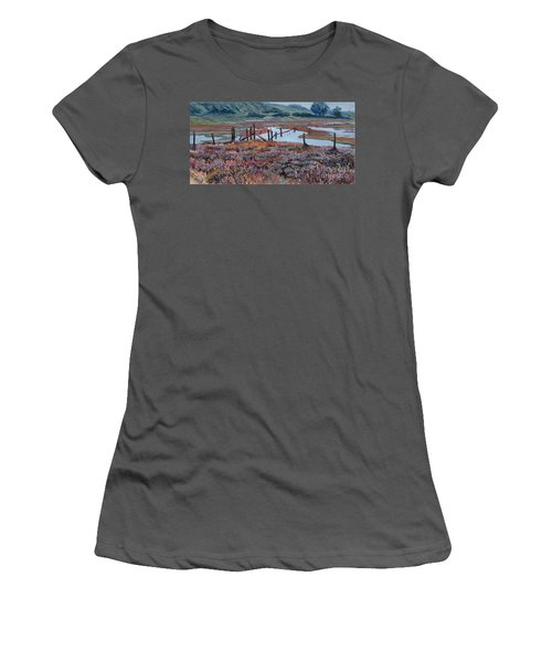 Elkhorn Slough Morning Women's T-Shirt (Athletic Fit)