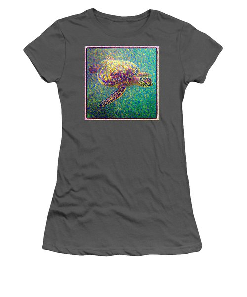 Ella The Turtle Women's T-Shirt (Athletic Fit)