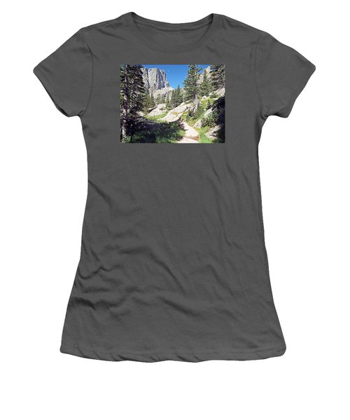 Emerald Lake Trail - Rocky Mountain National Park Women's T-Shirt (Athletic Fit)