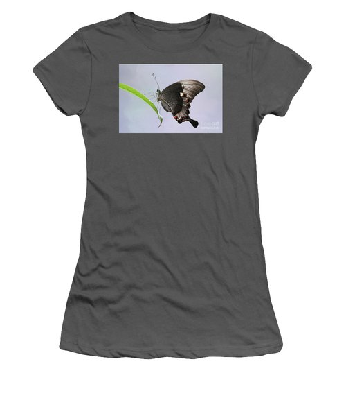 Emerald Peacock Swallowtail Butterfly V2 Women's T-Shirt (Athletic Fit)