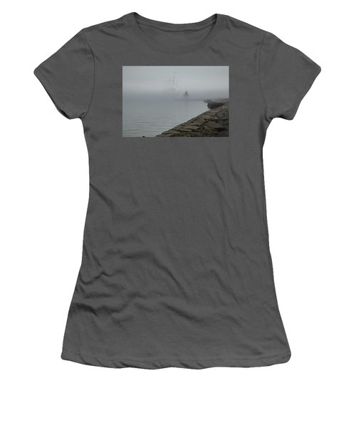 Women's T-Shirt (Athletic Fit) featuring the photograph Emerging From The Fog by Jeff Folger