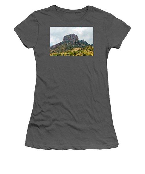 Emory Peak Chisos Mountains Women's T-Shirt (Athletic Fit)