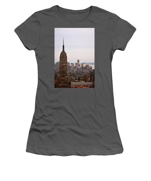 Empire State Building No.2 Women's T-Shirt (Junior Cut) by Zawhaus Photography