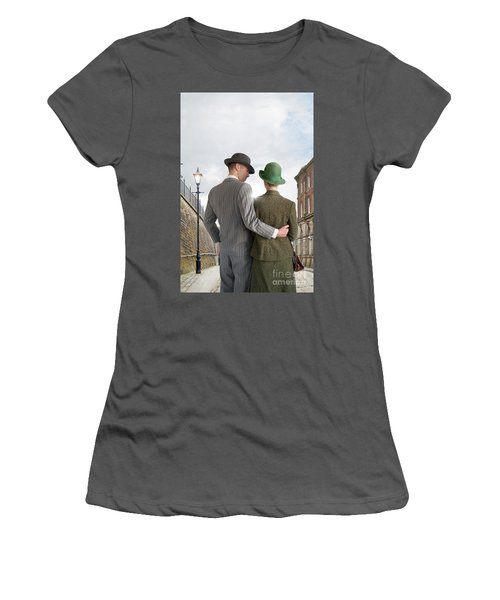 Empty Street With Victorian Buildings Women's T-Shirt (Athletic Fit)