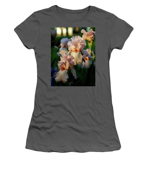 End Of Day Pink Irises 6702 H_2 Women's T-Shirt (Athletic Fit)