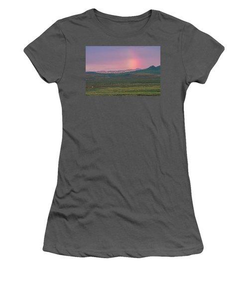 Women's T-Shirt (Junior Cut) featuring the photograph End Of Rainbow by Hitendra SINKAR