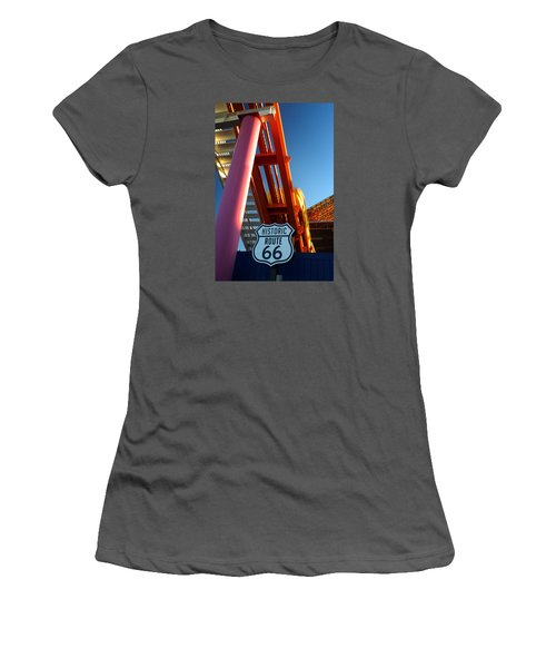 End Of Route 66 2 Women's T-Shirt (Athletic Fit)