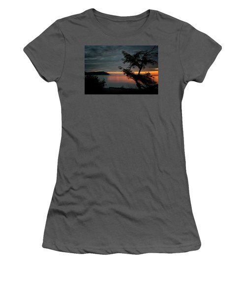 End Of The Trail Women's T-Shirt (Junior Cut) by Randy Hall