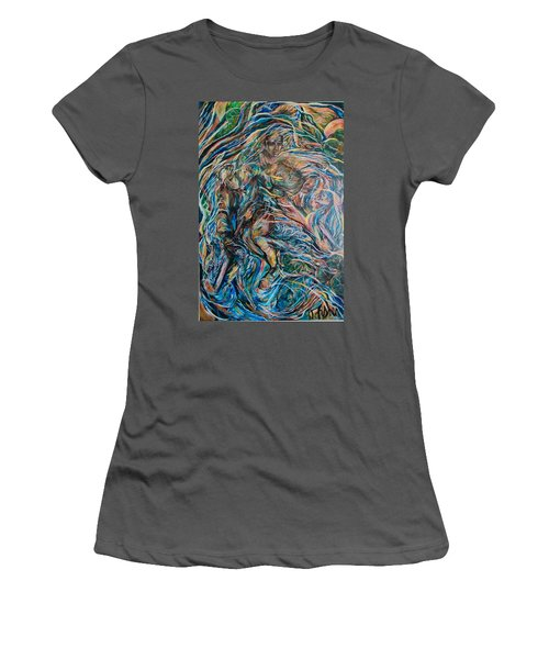 Women's T-Shirt (Junior Cut) featuring the painting Energy by Dawn Fisher