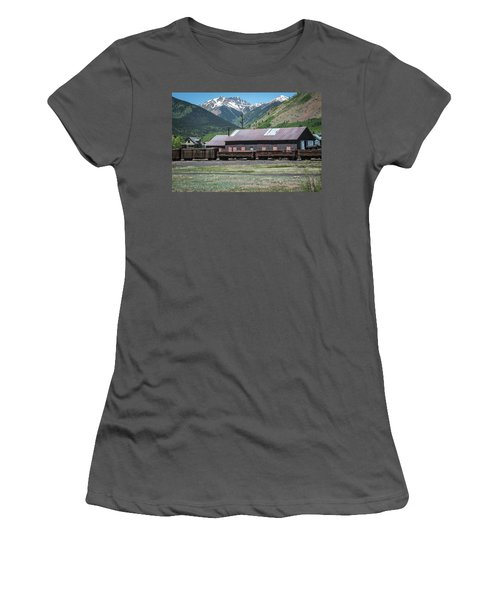 Women's T-Shirt (Athletic Fit) featuring the photograph Entering Silverton by Colleen Coccia