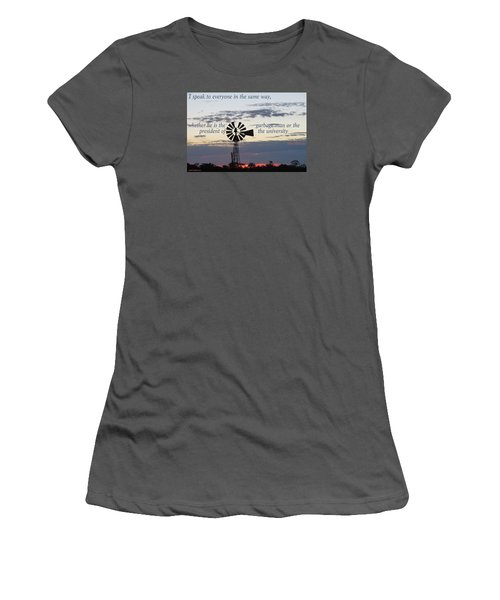 Equal In God's Eye Women's T-Shirt (Junior Cut) by David Norman