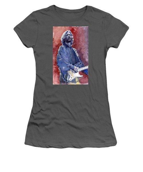 Eric Clapton 04 Women's T-Shirt (Athletic Fit)