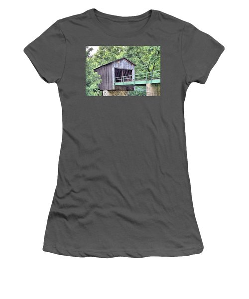 Euharlee Creek Covered Bridge Women's T-Shirt (Athletic Fit)