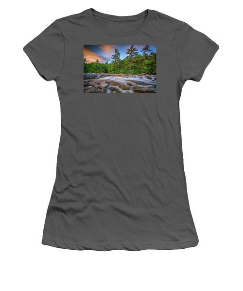 Women's T-Shirt (Athletic Fit) featuring the photograph Evening At Lower Falls by Rick Berk