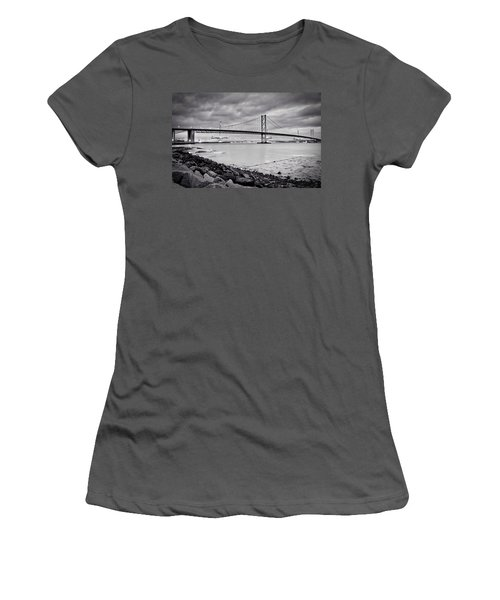 Evening At The Forth Road Bridges Women's T-Shirt (Junior Cut) by RKAB Works