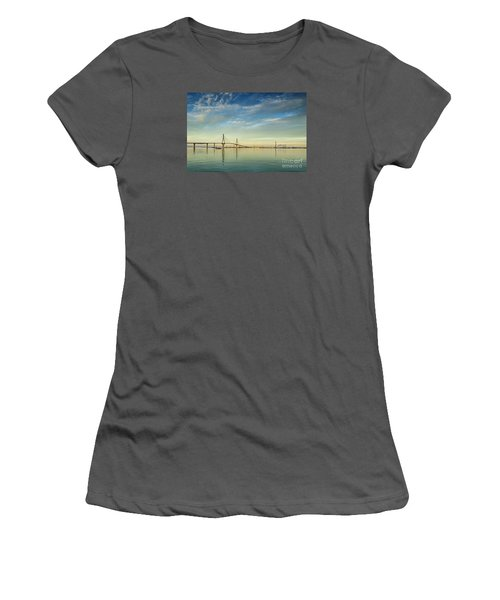 Evening Lights On The Bay Cadiz Spain Women's T-Shirt (Athletic Fit)