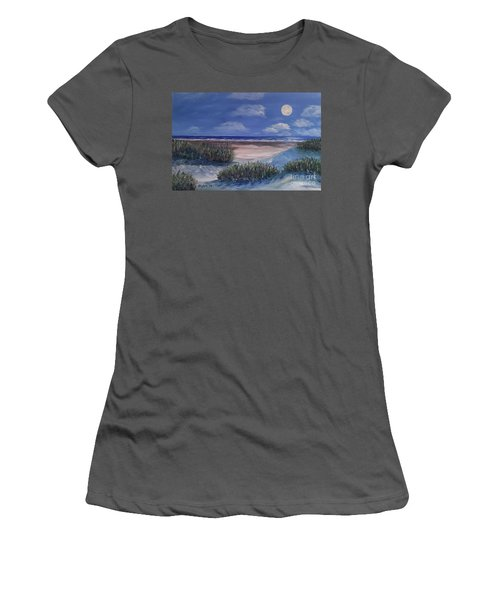 Evening Moon Women's T-Shirt (Athletic Fit)