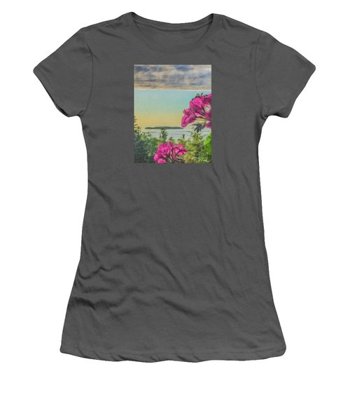 Women's T-Shirt (Junior Cut) featuring the photograph Islands Of The Salish Sea by William Wyckoff