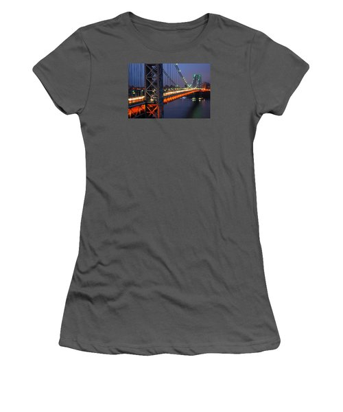 Evening On The George Washington Bridge Women's T-Shirt (Junior Cut)