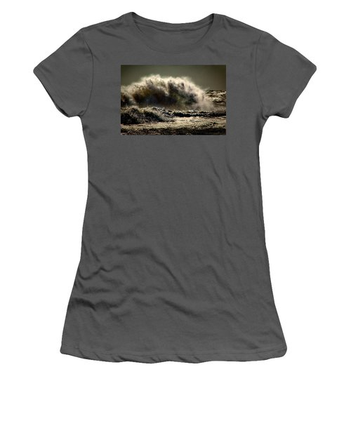 Explosion In The Ocean Women's T-Shirt (Athletic Fit)