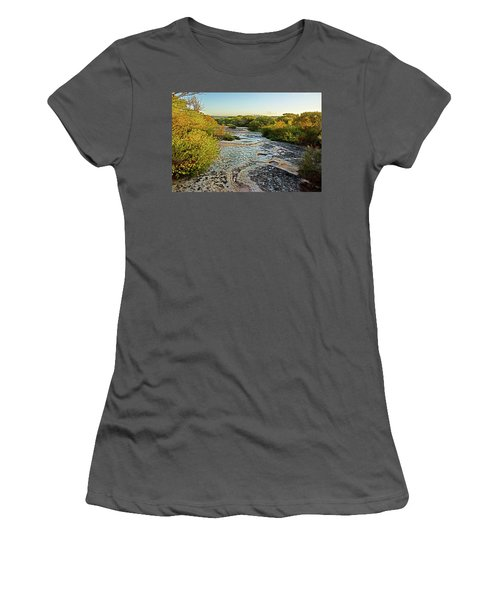 Women's T-Shirt (Athletic Fit) featuring the photograph Exposed Sandstone In North Head by Miroslava Jurcik
