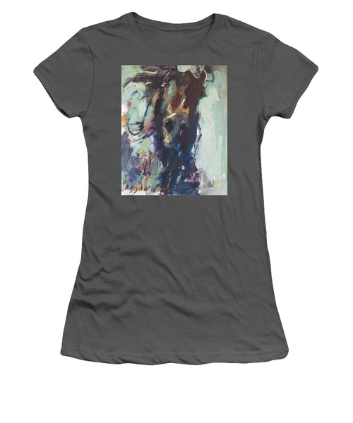 Women's T-Shirt (Junior Cut) featuring the painting Expressive by Robert Joyner