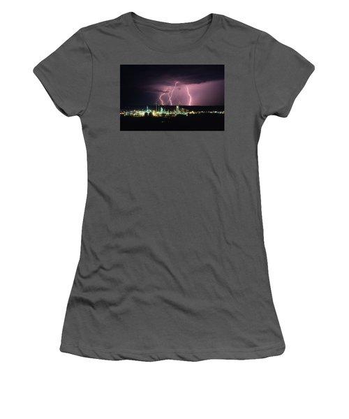 Exxon Lightning Women's T-Shirt (Athletic Fit)