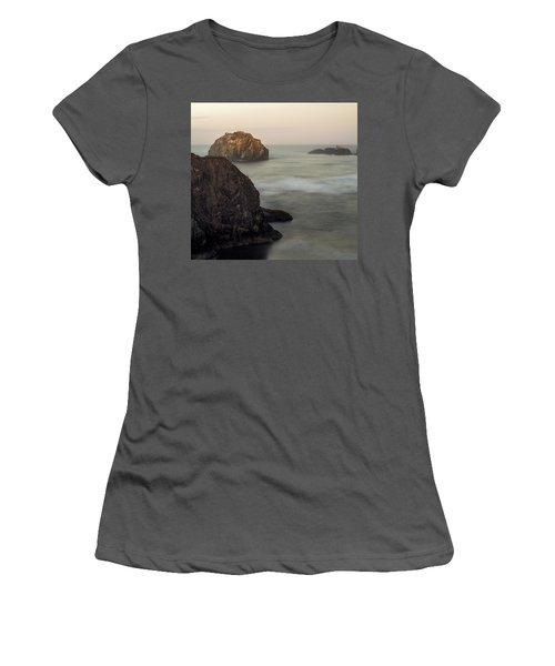 Face Rock Sunrise Women's T-Shirt (Athletic Fit)