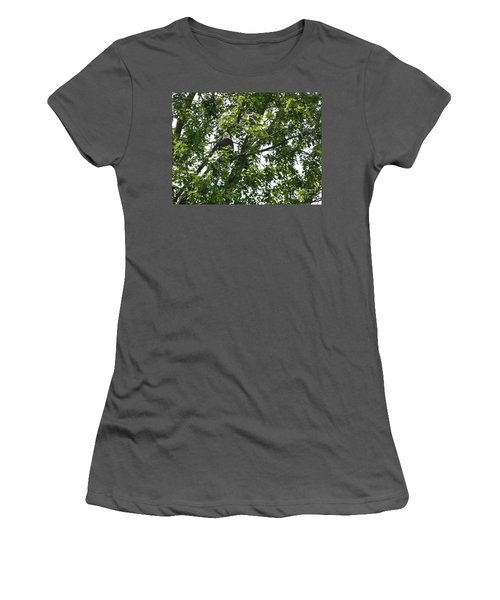 Face The Eagle Women's T-Shirt (Junior Cut) by Donald C Morgan