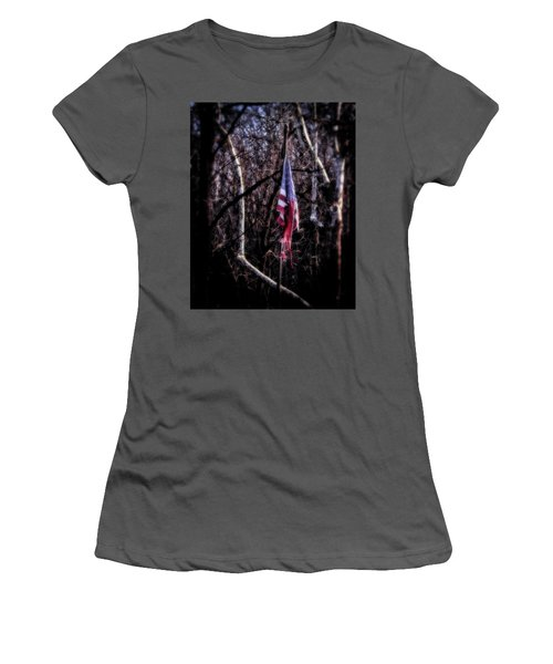Women's T-Shirt (Athletic Fit) featuring the photograph Faded Glory by Alan Raasch