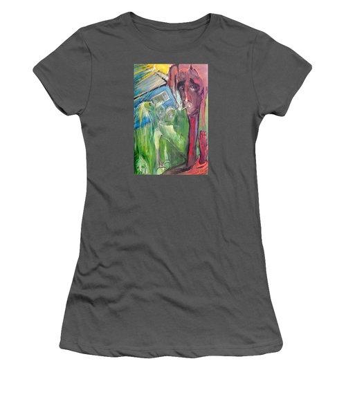 Faintly Visionary Women's T-Shirt (Junior Cut) by Kenneth Agnello
