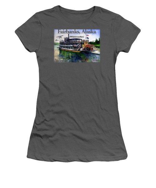 Fairbanks Paddle Wheel Shirt Women's T-Shirt (Athletic Fit)