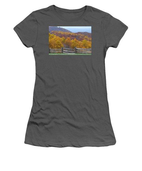 Women's T-Shirt (Junior Cut) featuring the photograph Fall Blend by Eric Liller