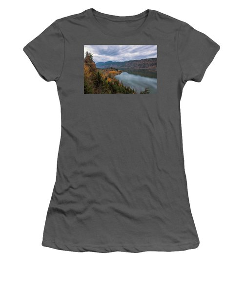 Fall Color At Ruthton Point In Hood River Oregon Women's T-Shirt (Athletic Fit)
