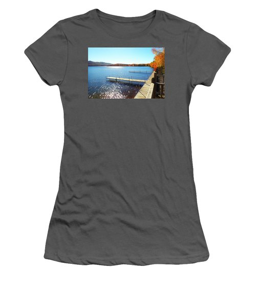 Fall On Lake Dunmore Women's T-Shirt (Athletic Fit)