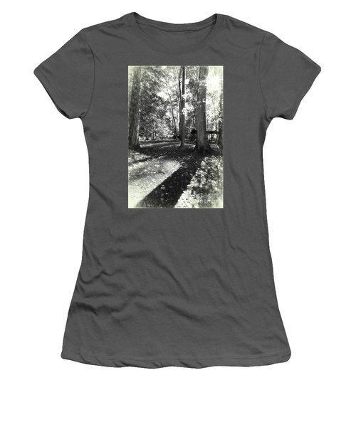 Fall Picnic Bw Painted Women's T-Shirt (Junior Cut) by Judy Wolinsky