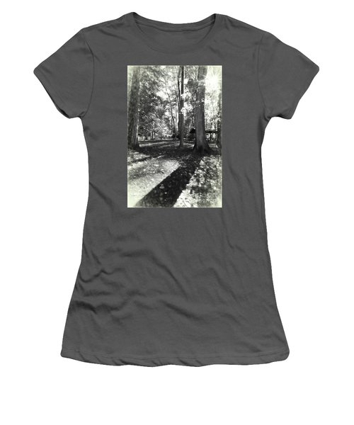 Fall Picnic Bw Painted Women's T-Shirt (Athletic Fit)