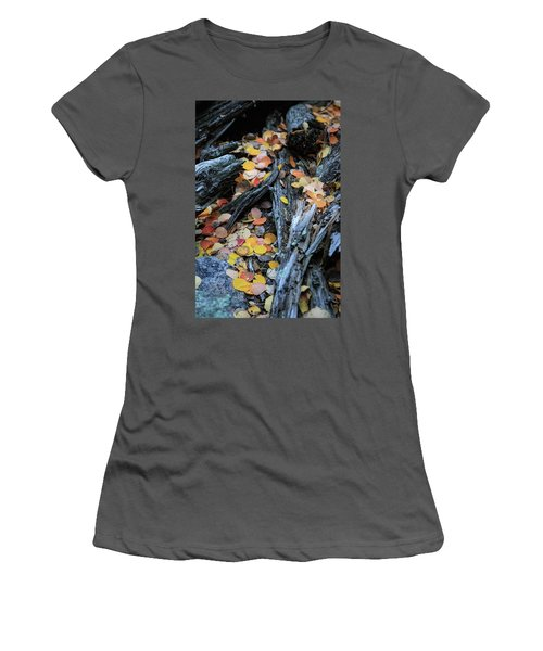 Women's T-Shirt (Athletic Fit) featuring the photograph Fallen by David Chandler