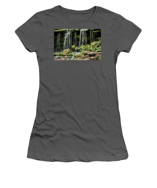 Falling Falls In The Garden Women's T-Shirt (Athletic Fit)