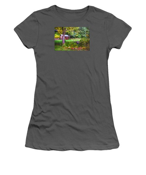 Falling Into Autumn Women's T-Shirt (Athletic Fit)