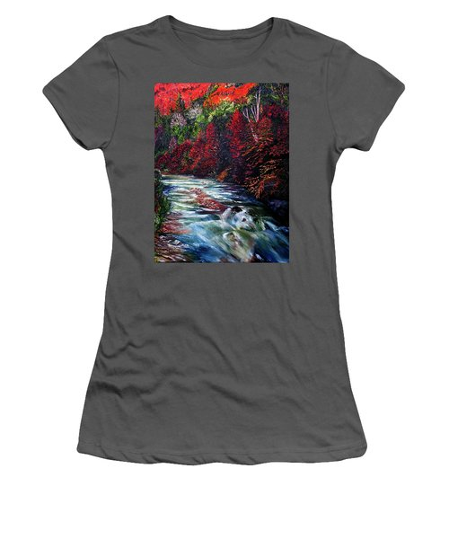 Falling Waters Women's T-Shirt (Athletic Fit)