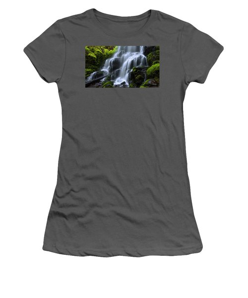 Women's T-Shirt (Junior Cut) featuring the photograph Falls by Chad Dutson