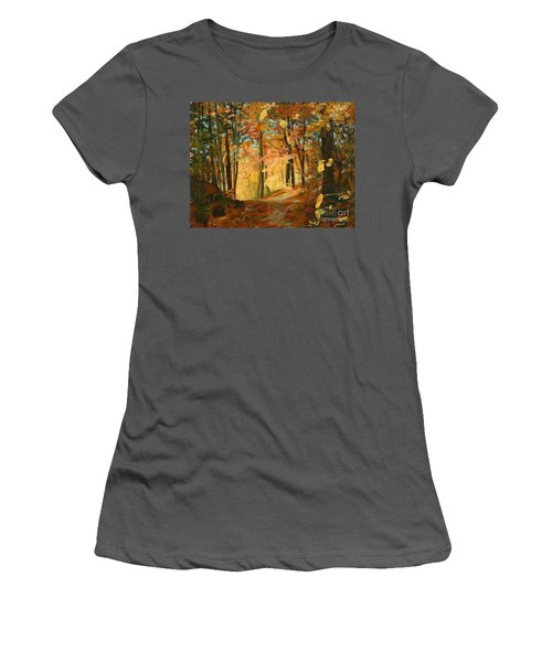 Fall's Radiance In Quebec Women's T-Shirt (Athletic Fit)