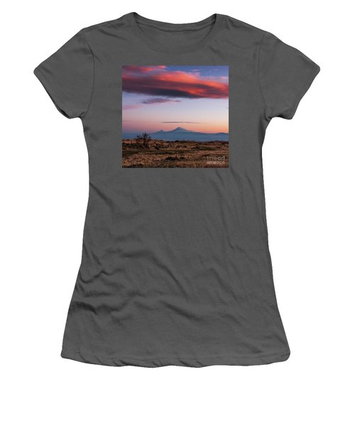 Famous Ararat Mountain During Beautiful Sunset As Seen From Armenia Women's T-Shirt (Athletic Fit)