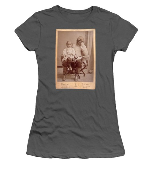 Famous Russian Sideshow Performer Jo-jo The Dog-faced Boy Women's T-Shirt (Junior Cut) by Celestial Images