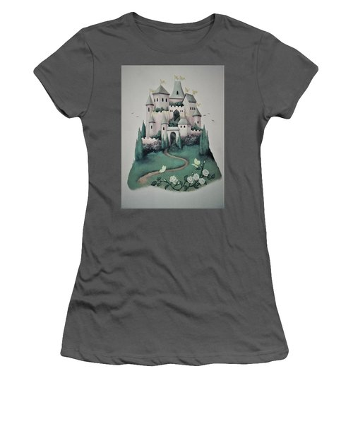 Fantasy Castle Women's T-Shirt (Athletic Fit)