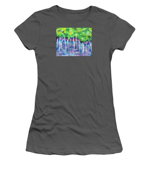Fantasy Forest Women's T-Shirt (Junior Cut) by Elizabeth Fontaine-Barr