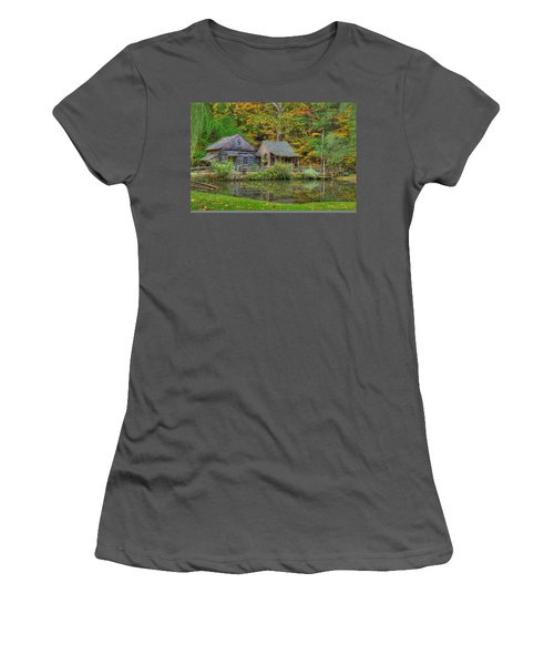 Farm In Woods Women's T-Shirt (Athletic Fit)