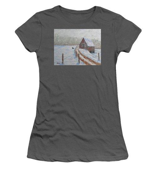 Farm Land Women's T-Shirt (Junior Cut) by Stanton Allaben