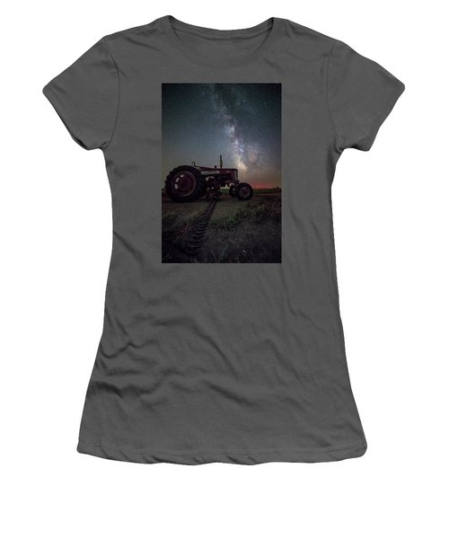 Women's T-Shirt (Athletic Fit) featuring the photograph Farmall by Aaron J Groen